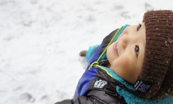 雪tと子供
